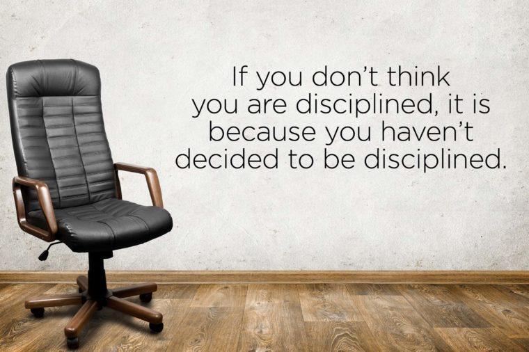 find discipline within