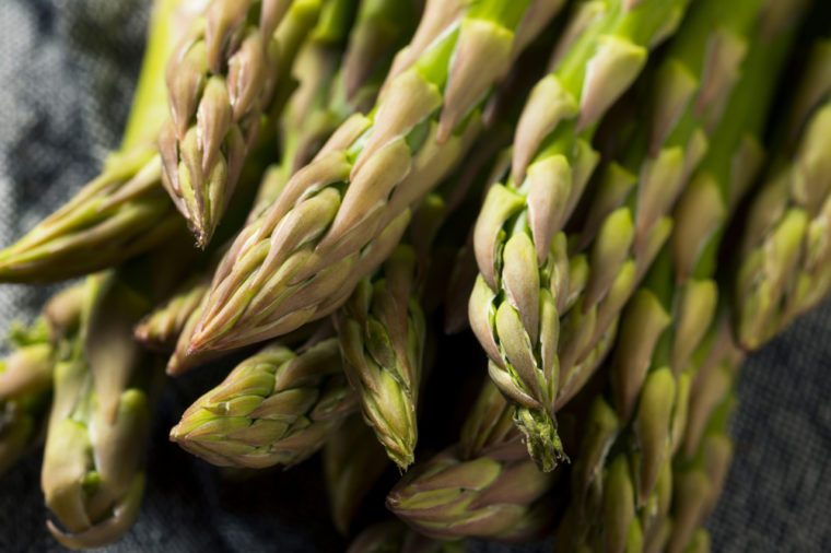 Healthy Organic Green Asparagus Stalks Ready to Cook