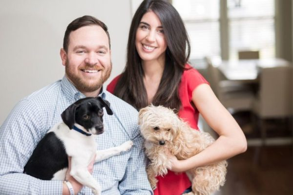stephen huff with wife and dogs