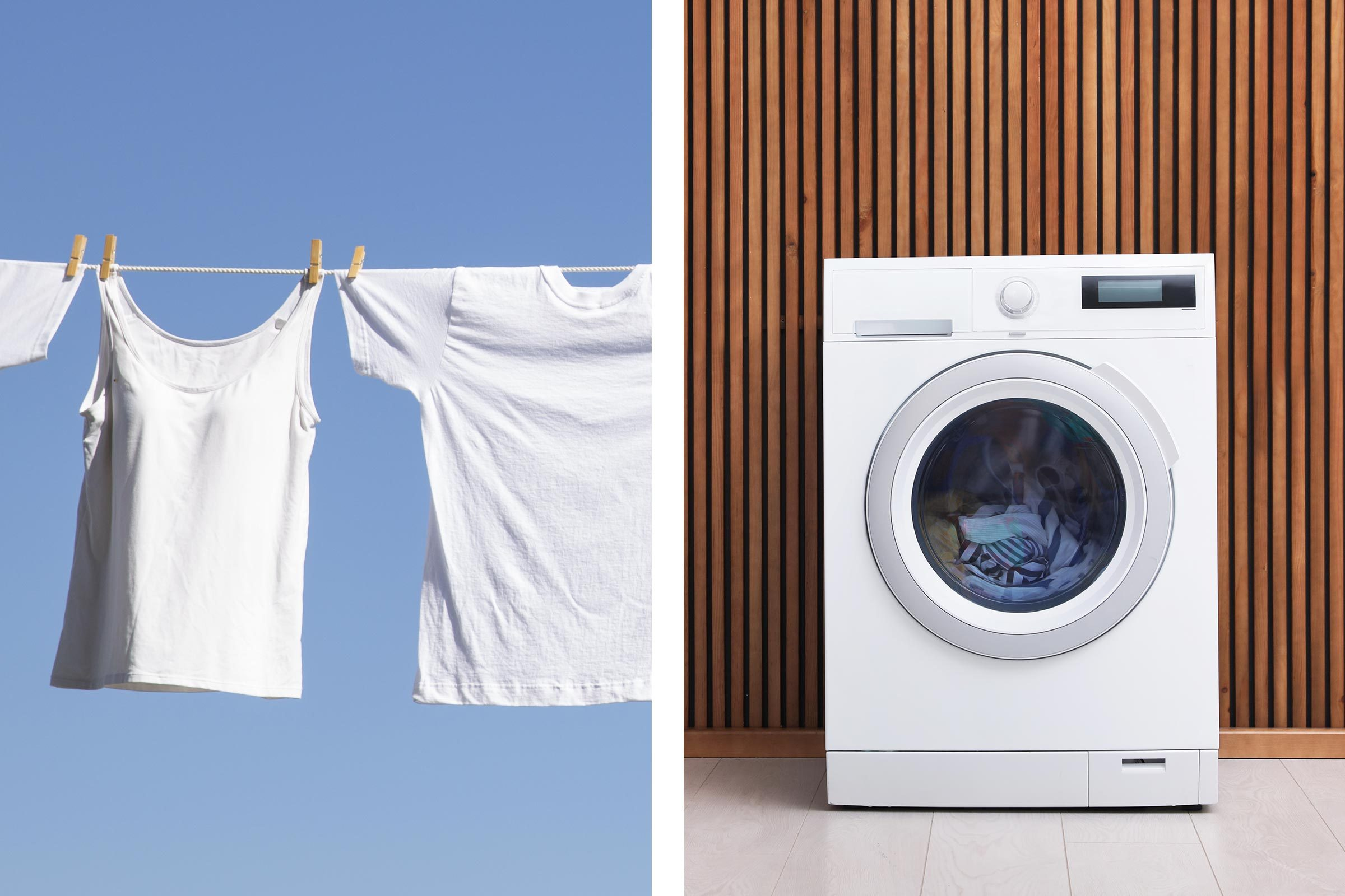 air dry or machine dry your clothes