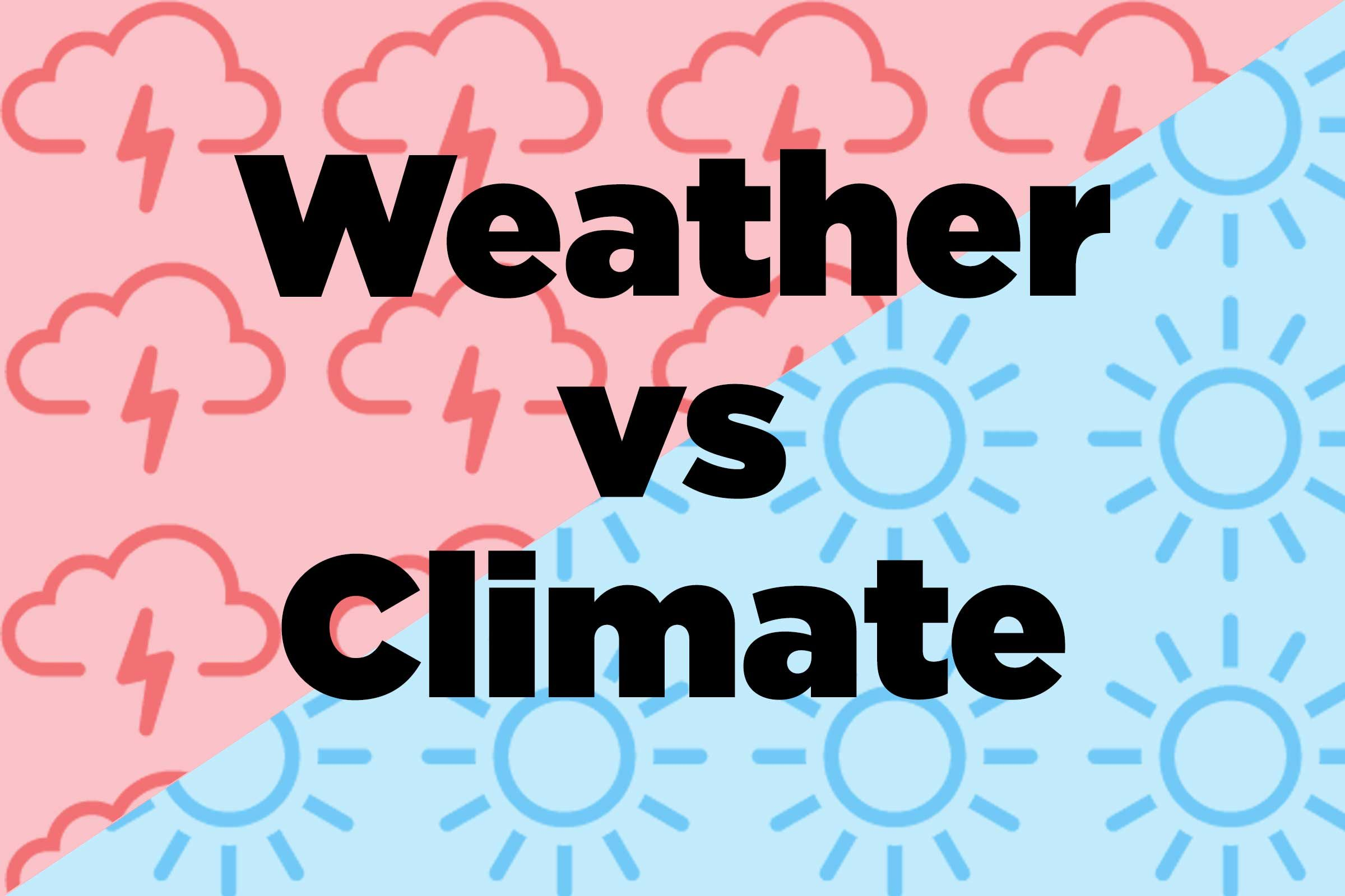 Difference Between Weather And Climate Nature Words