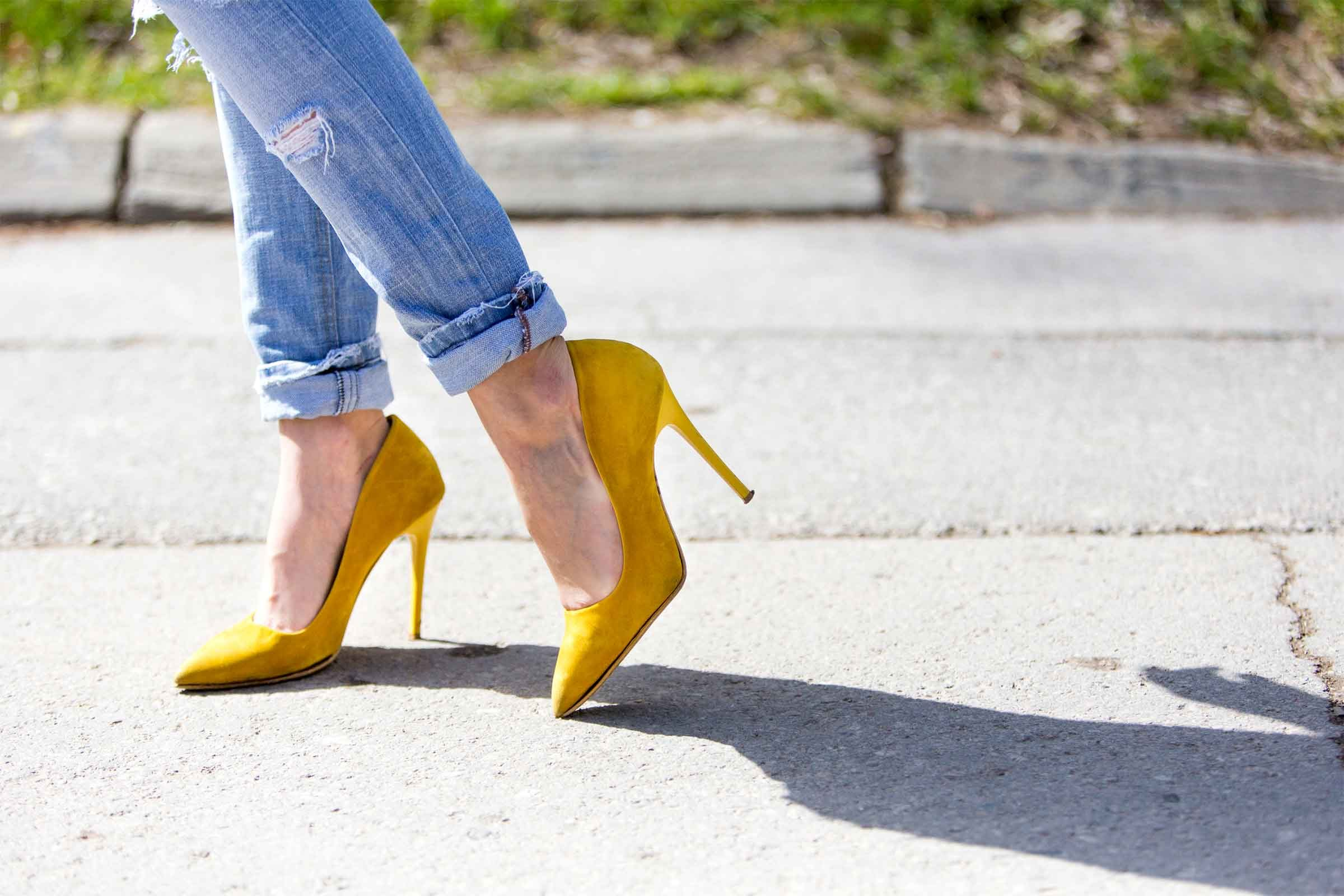 Heels put more pressure on the ball of your foot