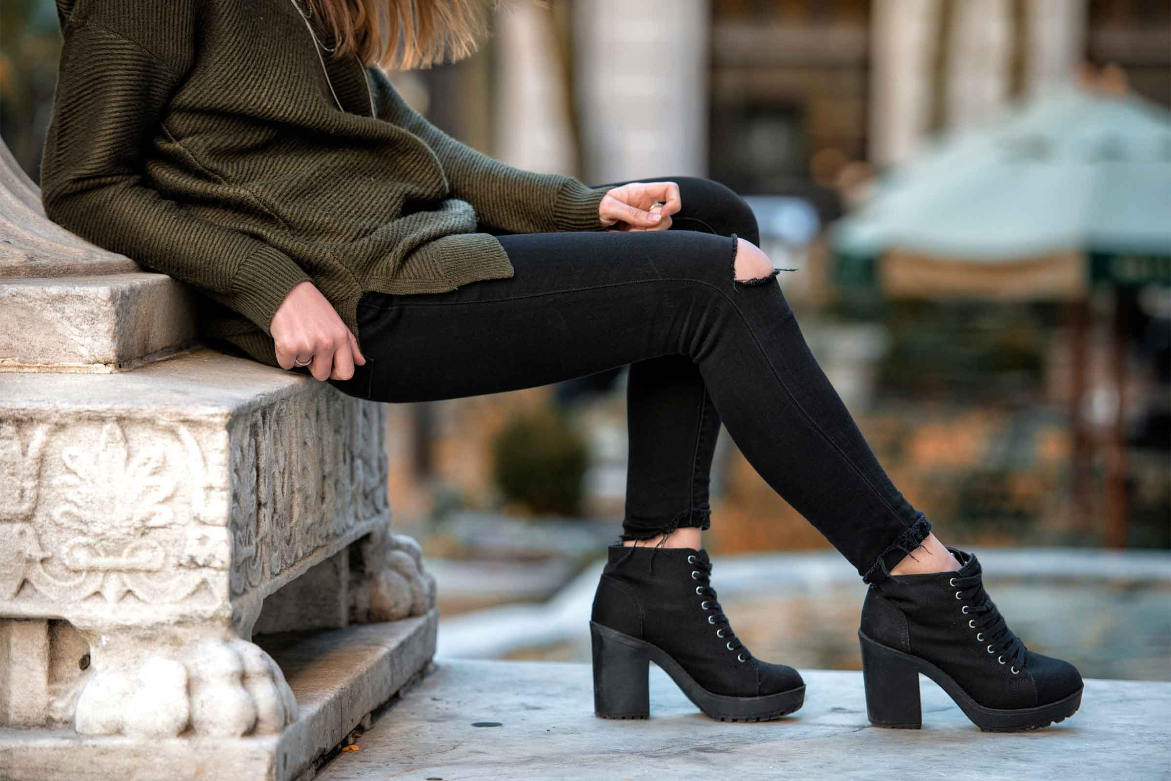 High heels put extra stress on your knees