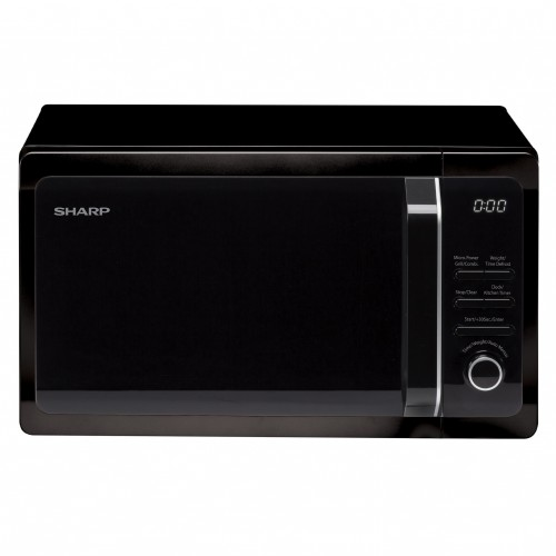 MICROWAVE GRILL BLACK 20 LITRES SHARP R664KM