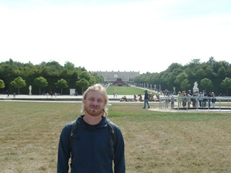 Myself, with the Palace of Versailles in the background.