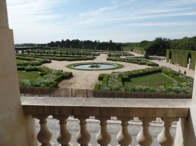 Overlooking some French-style gardens