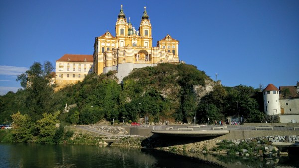 Famous Benedictine Abbey (is there another type of abby?) at Melk.