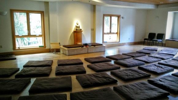 Sitting meditation hall