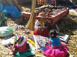 Children creating and selling small crafts.