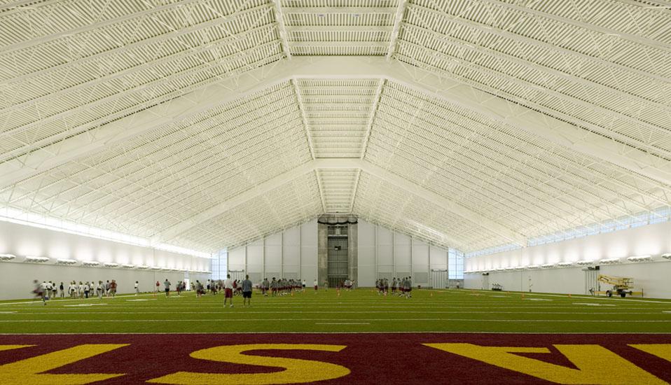 Iowa State University Bergstrom Indoor Training Facility