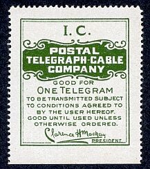 Postal Telegraph-Cable Company stamp
