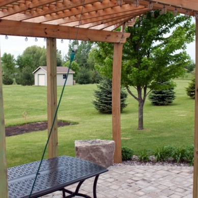Brick Patio, Steps, Grill Enclosure, and Pergola
