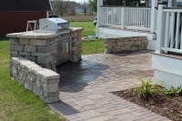 Built In Grill Patio & Remote Fire Pit - R&D Landscape