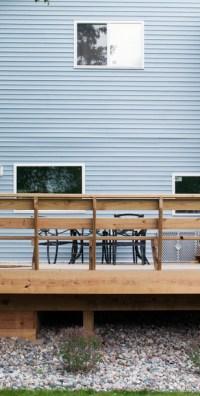 Deck with Built In Fire Pit - R&D Landscape