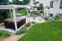 Outdoor patio, pergola, hot tub, and grilling area - R&D ...