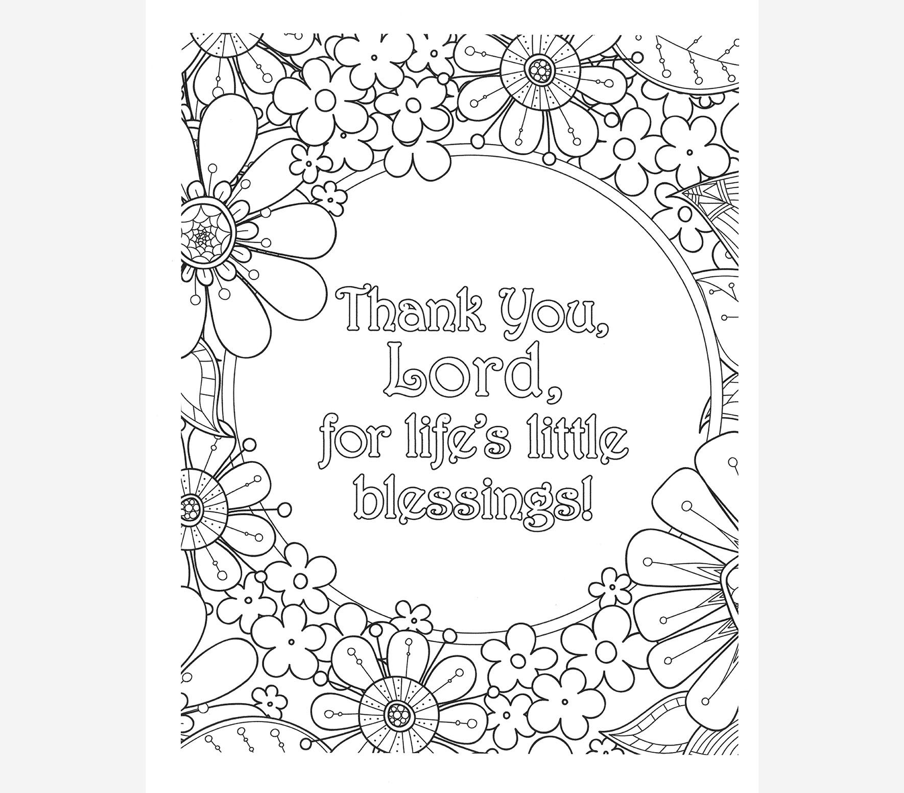 Adult Coloring Book Power Prayers