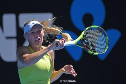 Un diritto della danese Caroline Wozniacki - Australian Open