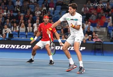 Feliciano Lopez e Pablo Carreno Busta Team Spain ATP CUP 2020 Sydney - foto di Roberto Dell'Olivo