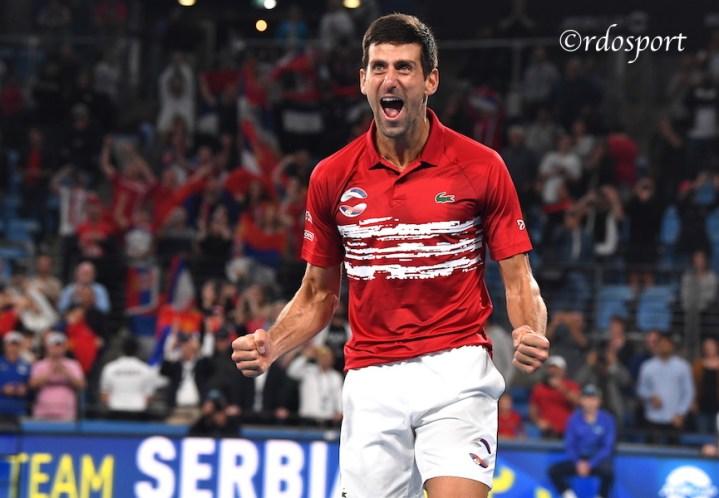 Novak Djokovic Team Serbia ATP CUP 2020 Sydney - foto di Roberto Dell'Olivo