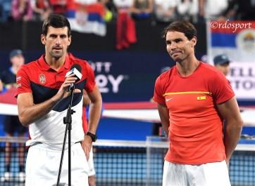 Novak Djokovic e Rafael Nadal ATP CUP 2020 Sydney - foto di Roberto Dell'Olivo