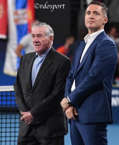 Ken Rosewall e Andrea Gaudenzi- ATP CUP 2020 Sydney - foto di Roberto Dell'Olivo