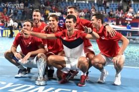 Team Serbia Campione ATP CUP 2020 - Sydney - foto di Roberto Dell'Olivo