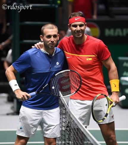 Evans e Nadal - Gran Bretagna - Spagna - davis Cup Madrid 2019