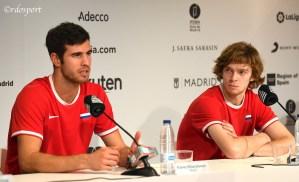 Karen Khachanov e Andrey Rublev - Team Russia in conferenza stampa - Davis Cup Madrid 2019 - foto di Roberto Dell'Olivo