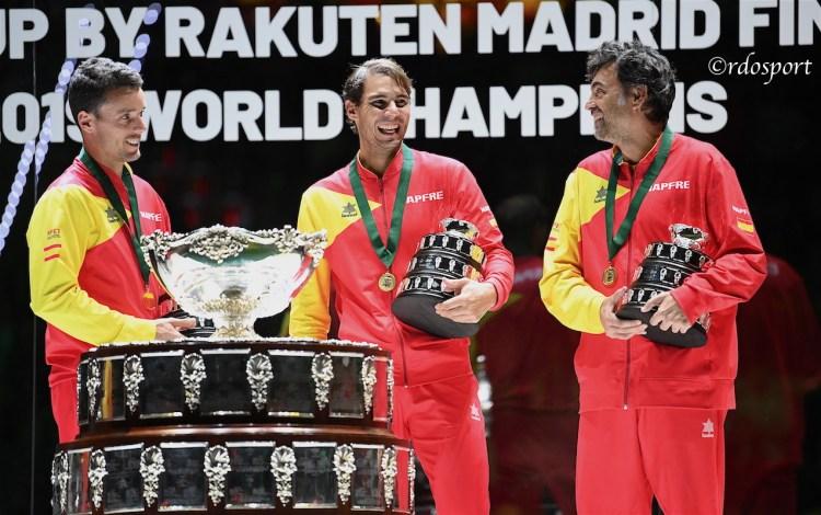 Roberto Bautista Agut, Rafael Nadal e Sergi Bruguera - TEAM SPAGNA Davis Cup Madrid 2019