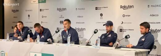Team Serbia conferenza stampa dopo la sconfitta in semifinale con la Russia - Davis Cup Madrid 2019 - foto di Roberto Dell'Olivo