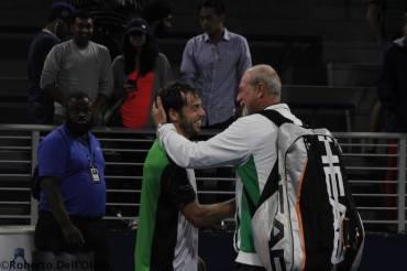 Paolo Lorenzi insieme al suo coach storico Claudio Galoppini agli Us open del 2016 (©rdosport)