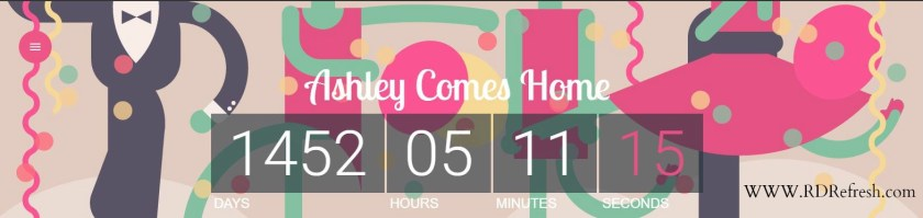 Countdown to coming home.