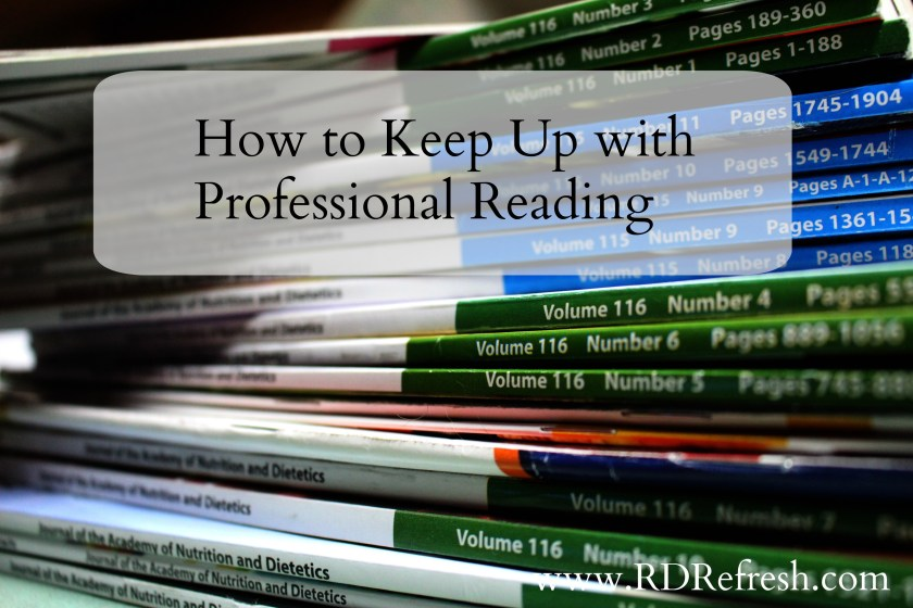 How to Keep Up with Professional Reading