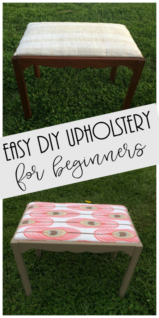 diy upholstery, easy upholstery project, diy, upholstered bench