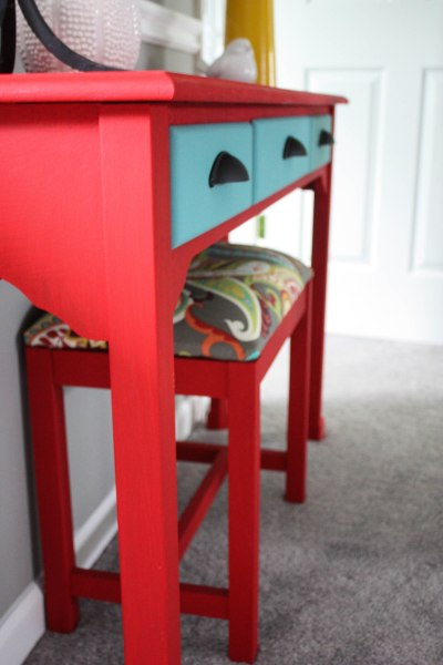 $15 Console Table and Bench Makeover