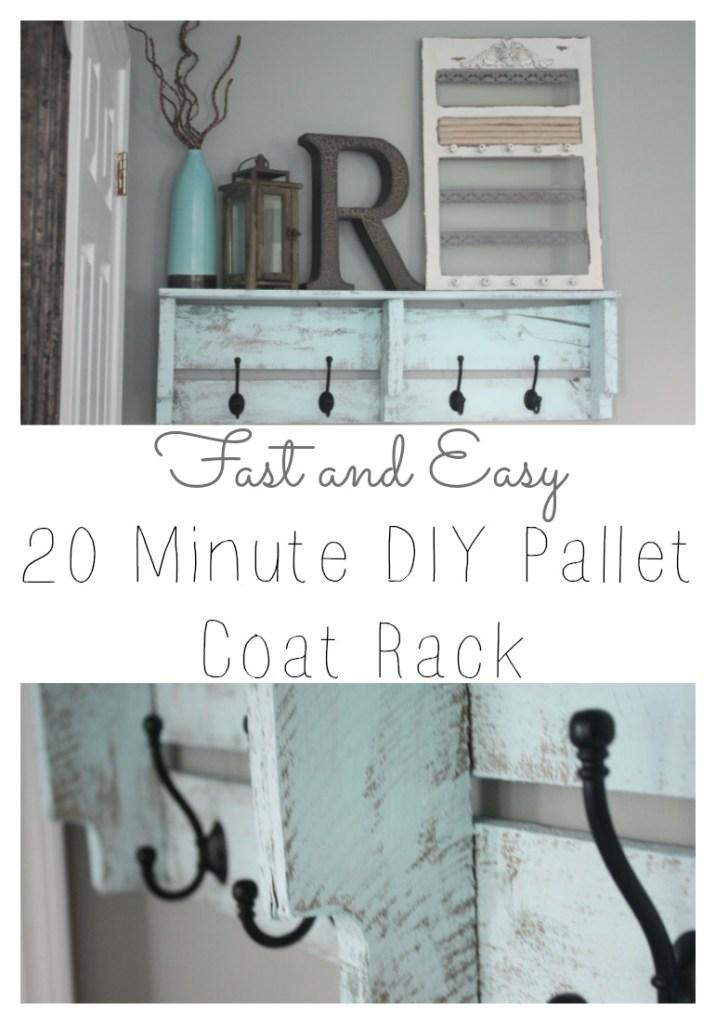 Fast and Easy DIY Pallet Coat Rack