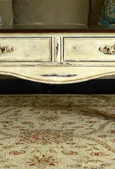 French Country Chalk Paint Coffee Table