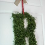 DIY Moss Covered Initial
