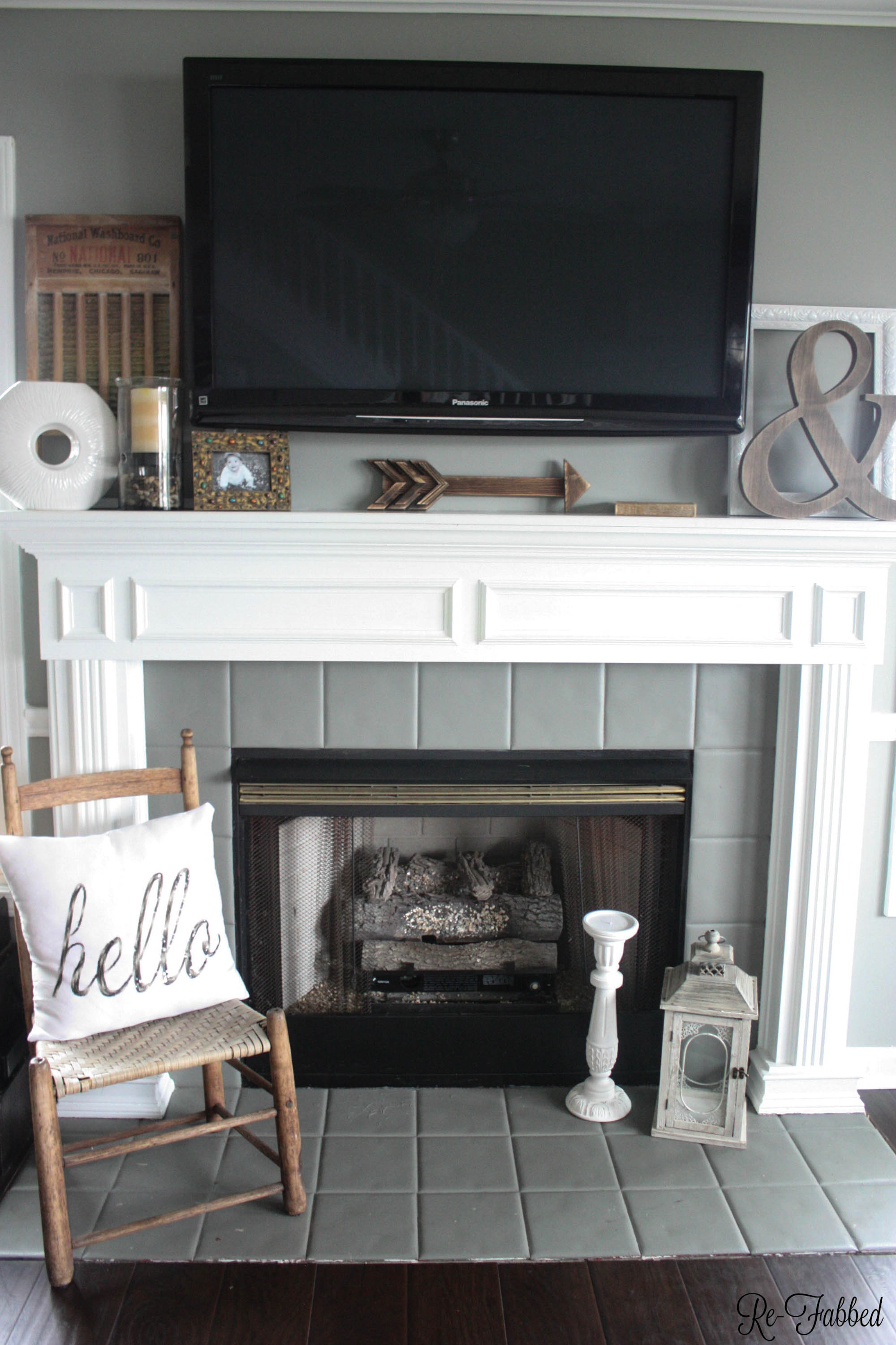 Decorating a Mantel with a TV , Re,Fabbed