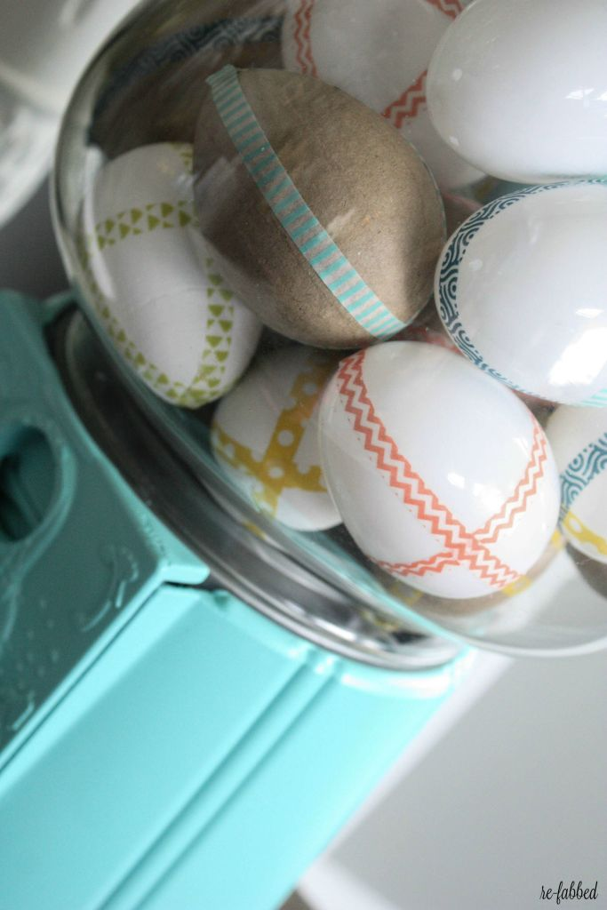 Washi Tape Eggs and Gumball Machine