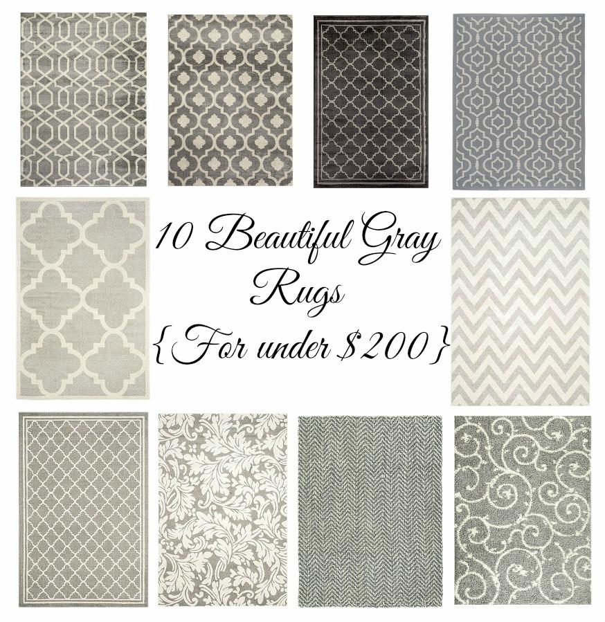 10 Beautiful Gray Rugs under $200