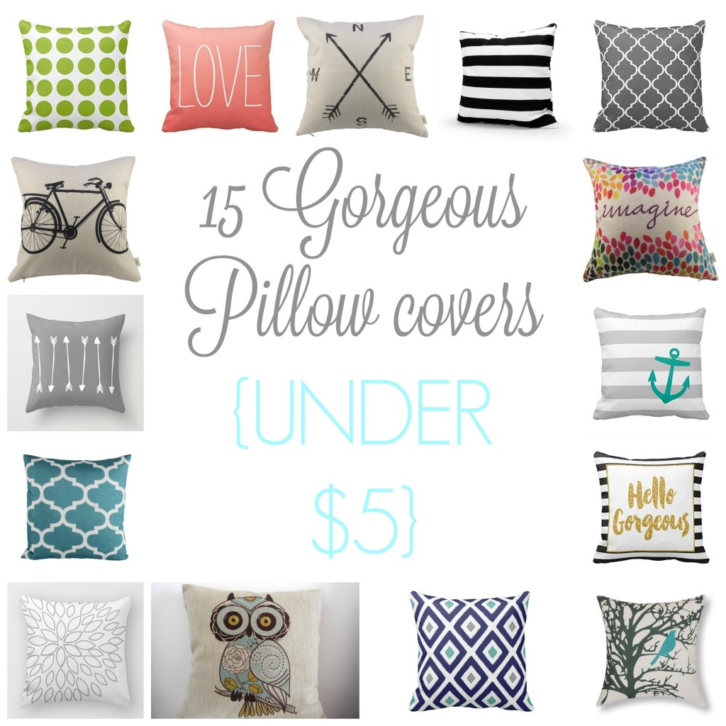 15 Amazon Pillow Covers under $5.00