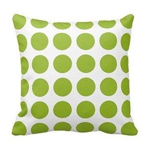 Green Polka Dot Pillow Cover