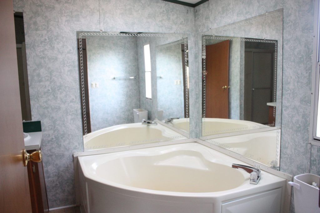 Trailer Master Bath Before