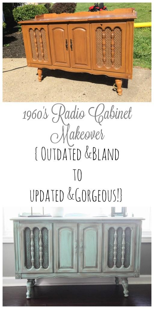 Radio Cabinet Makeover Collage
