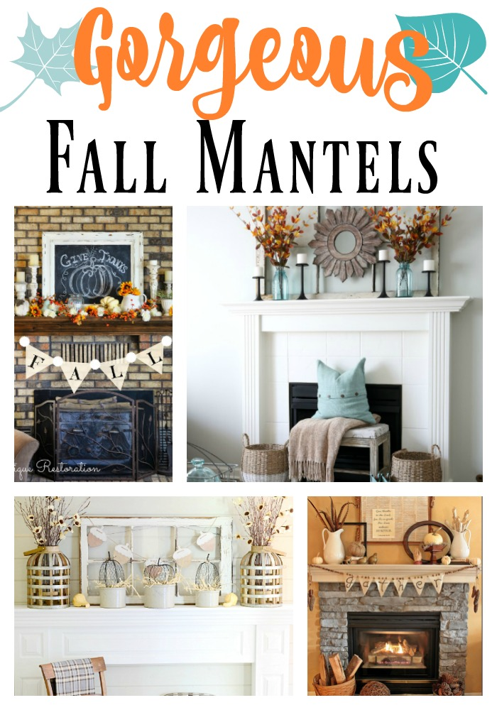 Gorgeous Inspiration for your Fall Mantel! Each of these mantels are beautiful and different, so they are perfect for each and every style of decorating!