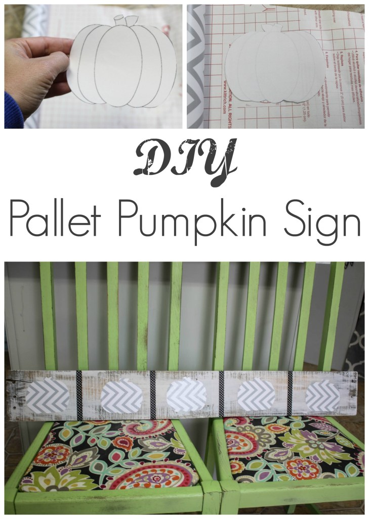 If you are needing a quick, easy and fun Fall project- you totally need to try this! This DIY Pallet Pumpkin sign is so dang cute and was free to make. Thanks for pinning! Awesome idea!