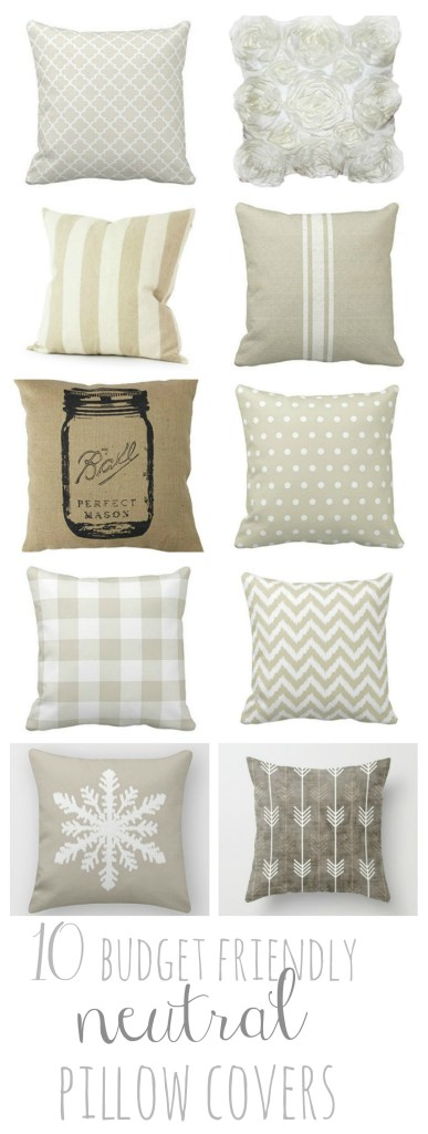 10 Budget Friendly Neutral Amazon Pillow Covers