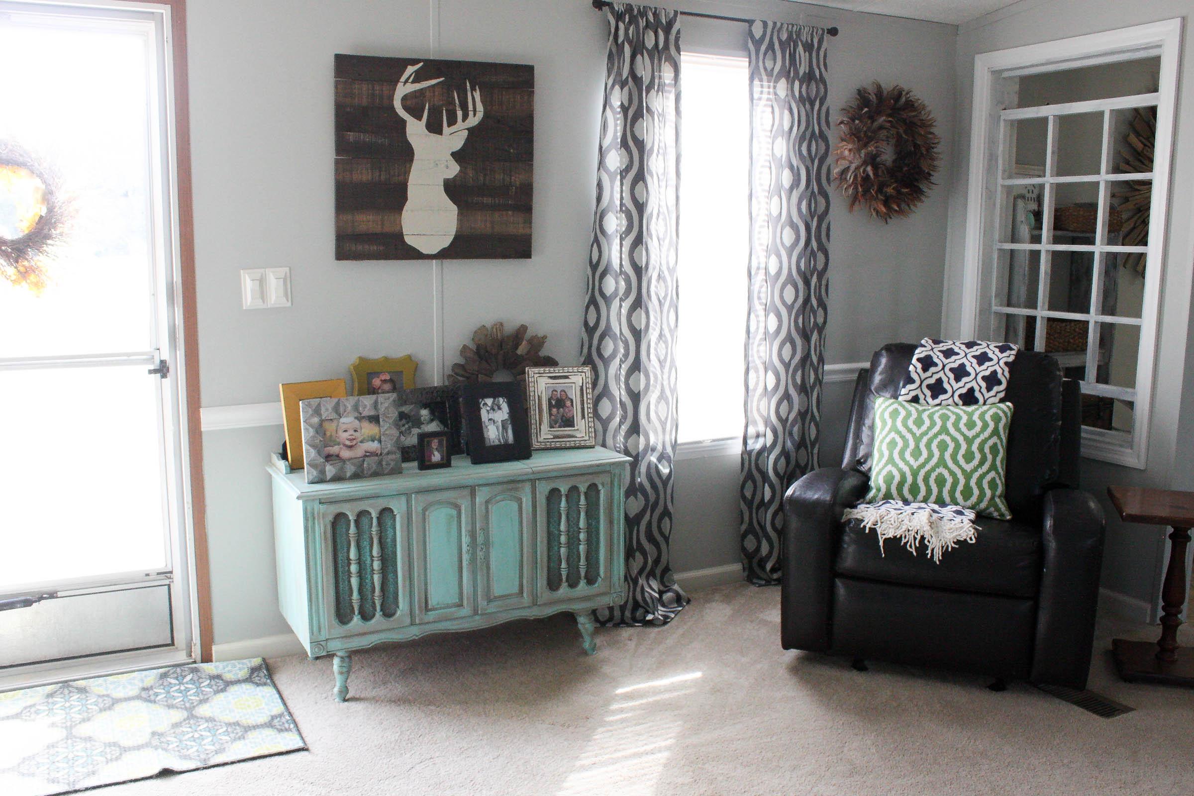 Mobile Home Living Room Reveal  ReFabbed