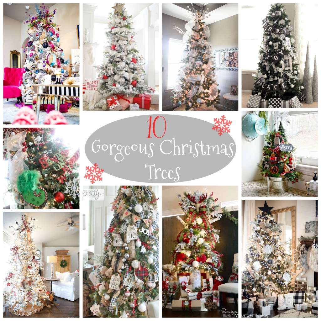 10 Gorgeous Christmas Trees of all styles that are SURE to inspire your decorating this Christmas Season!